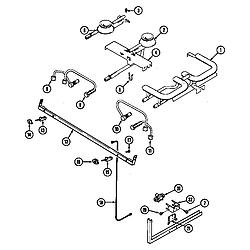 SEG196 Slide-In Range Gas controls (wht) Parts diagram