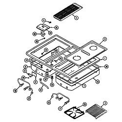 SEG196 Slide-In Range Main top (seg196) (seg196-c) Parts diagram