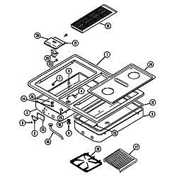 SEG196 Slide-In Range Main top (wht) (seg196w) (seg196w-c) Parts diagram