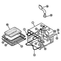 SEG196 Slide-In Range Oven liner (wht) (seg196w) (seg196w-c) Parts diagram