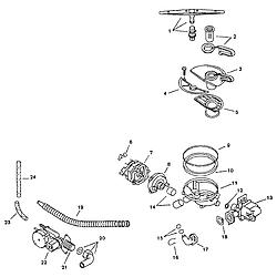 SMU7052UC14 Dishwasher Component assemblies Parts diagram