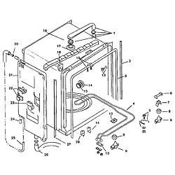 SMU7052UC14 Dishwasher Inner liner Parts diagram
