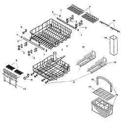 SMU7052UC14 Dishwasher Racks Parts diagram