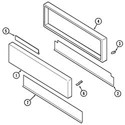 SVD48600P Gas/Electric Slide In Range Access panel Parts diagram