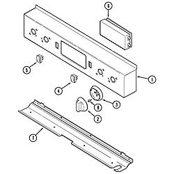 SVD48600P Gas/Electric Slide In Range Control panel Parts diagram