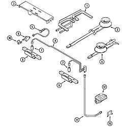 SVD48600P Gas/Electric Slide In Range Gas controls Parts diagram