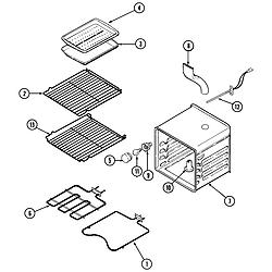 SVD48600P Gas/Electric Slide In Range Oven Parts diagram