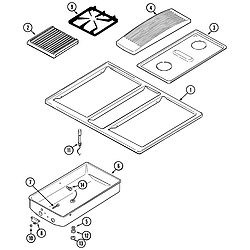 SVD48600P Gas/Electric Slide In Range Top assembly Parts diagram