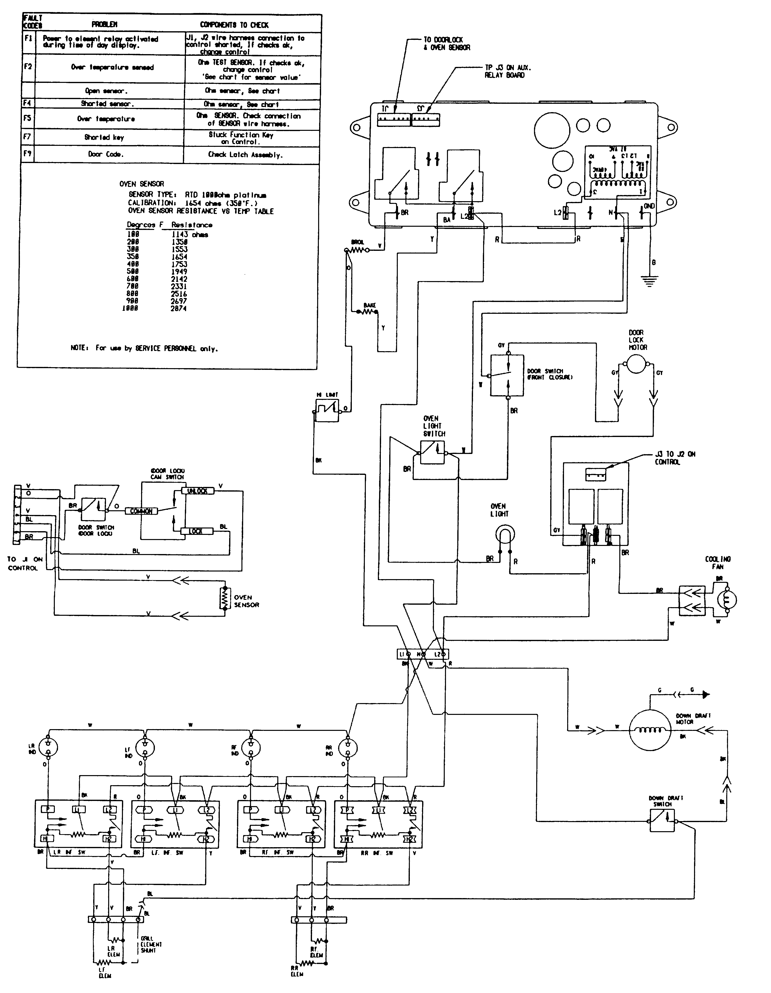 SVE47100 Electric Slide-In Range Wiring information (sve47100b/w) Parts  diagram