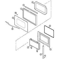 W30400BC Electric Wall Oven Door Parts diagram