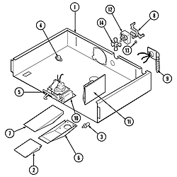 W30400BC Electric Wall Oven Internal controls Parts diagram