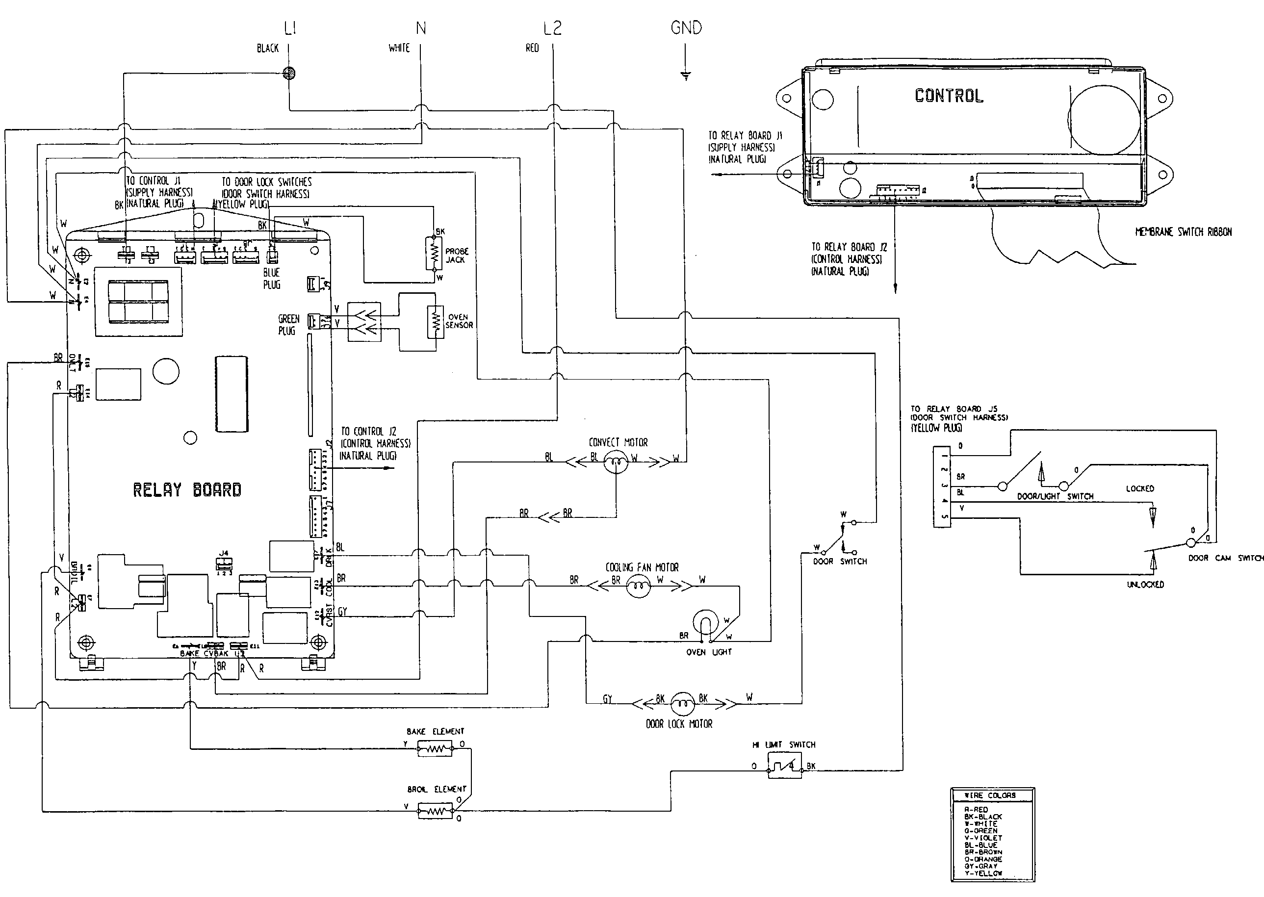 Wiring Diagram Electric Cooker : Jenn air w bc electric wall oven timer stove clocks
