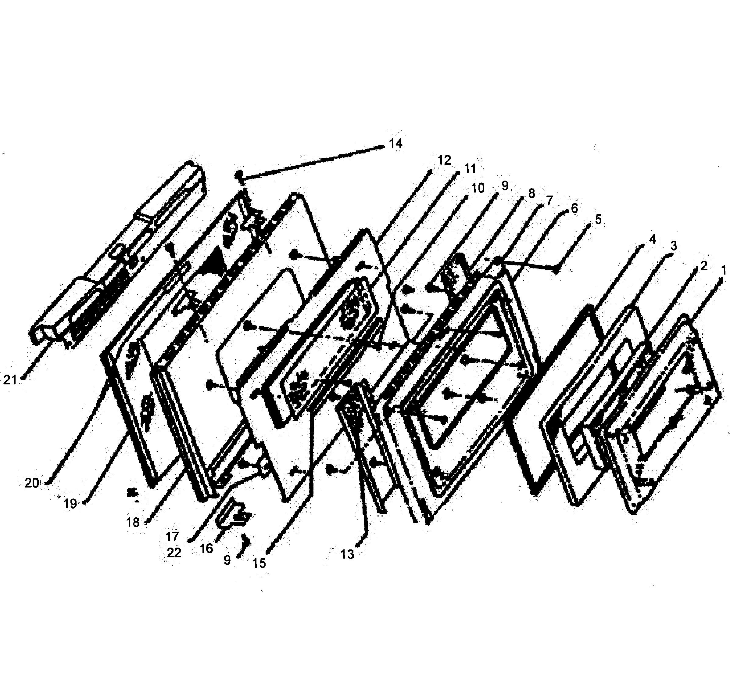 W305 Oven Door assy Parts diagram