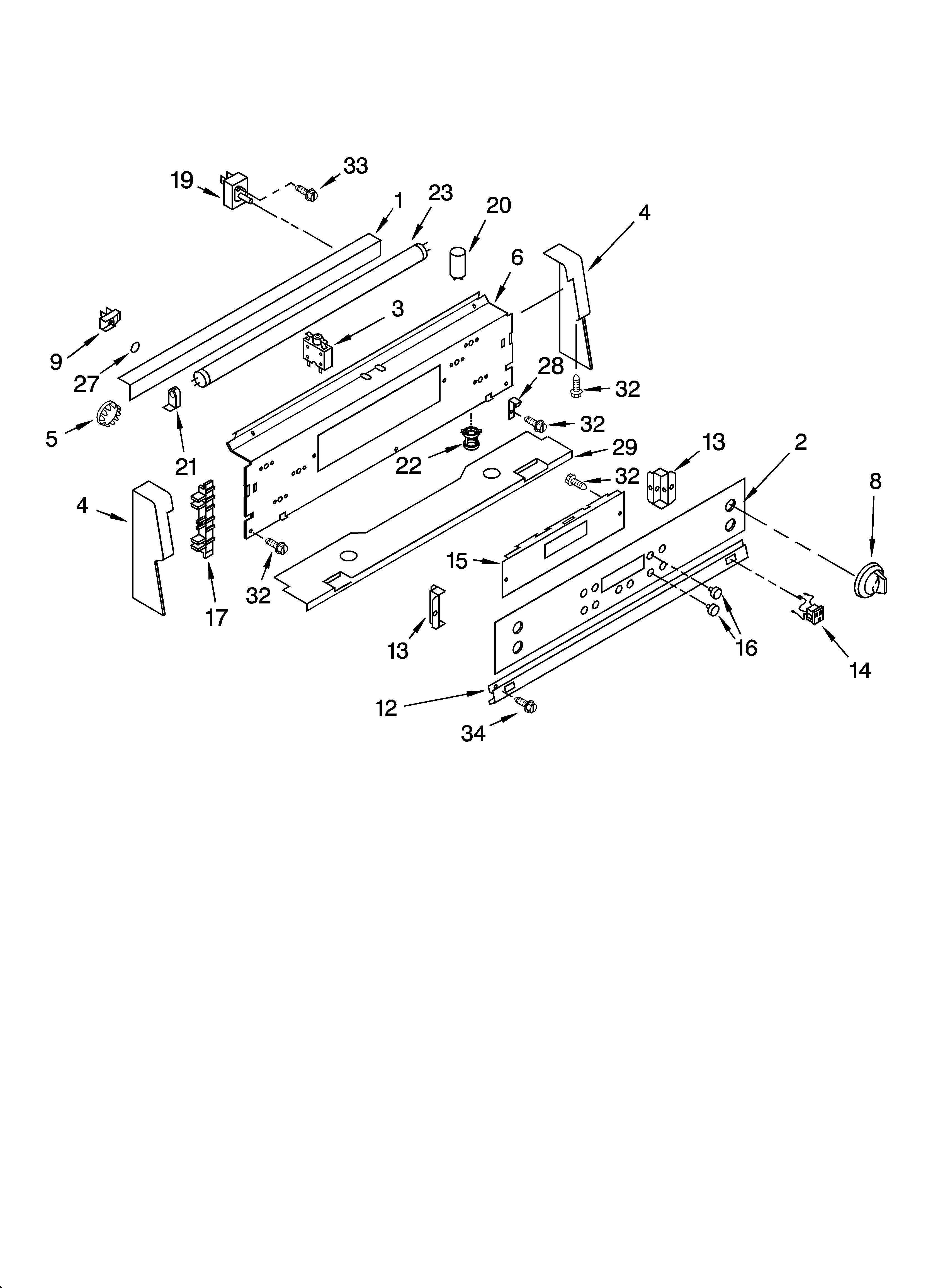 whp54803 free standing - electric control panel parts diagram