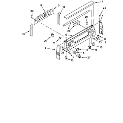 YKERC507HS4 Free Standing Electric Range Control panel Parts diagram
