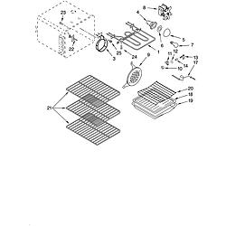 YKERC507HS4 Free Standing Electric Range Oven Parts diagram