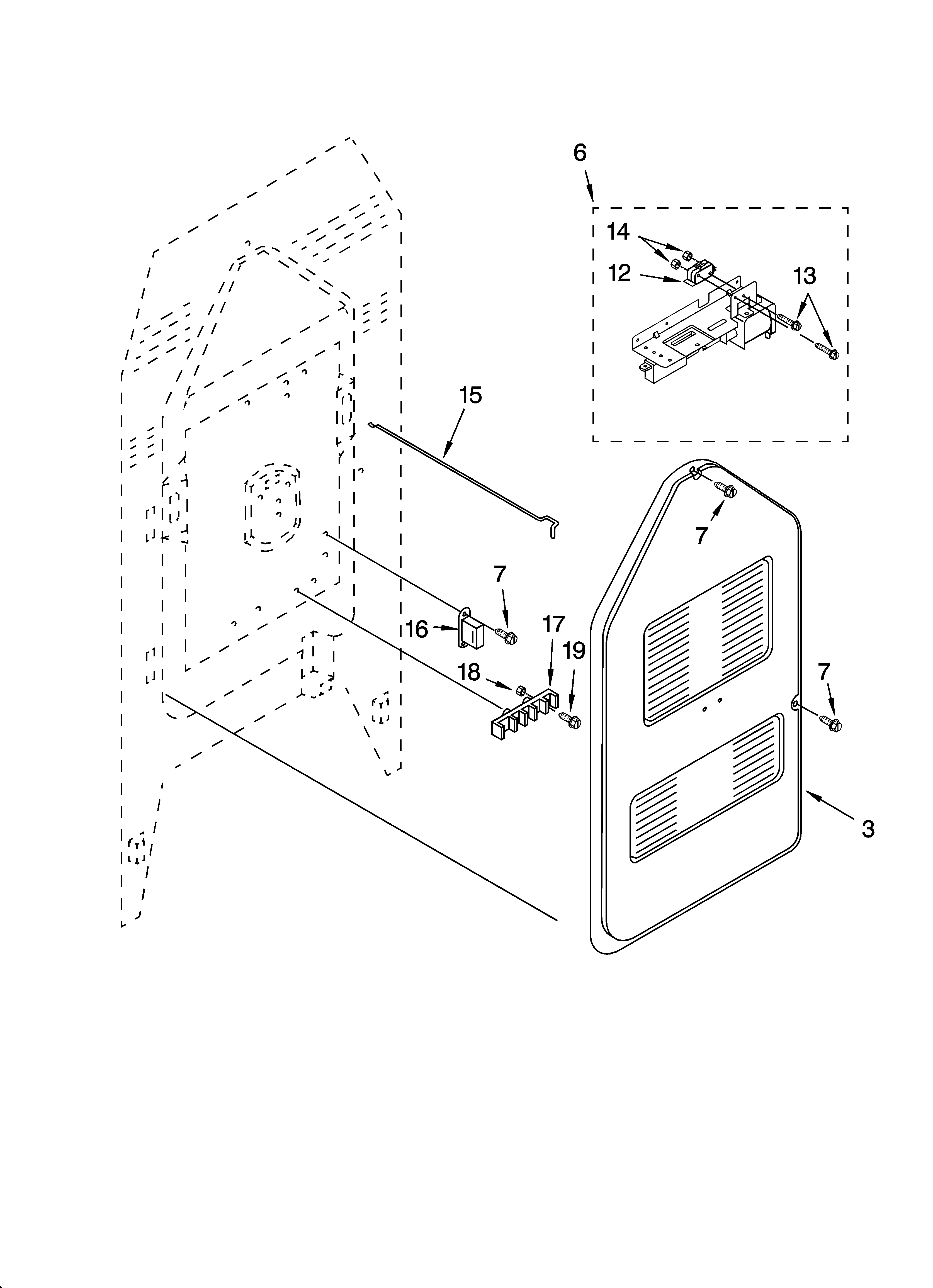 ykerc507hw0 free standing electric range rear chassis parts diagram