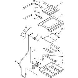 YKGRT607HS5 Free Standing Gas Range Broiler & oven burner Parts diagram