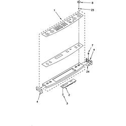 YKGRT607HS5 Free Standing Gas Range Control panel Parts diagram