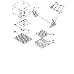 YKGRT607HS5 Free Standing Gas Range Oven Parts diagram
